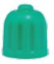 venttiilinhattu, vihreä, typellä täytetty renkaille