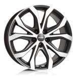 ALUTEC alumiinivanne W10 Black Polished, 20x9. 0 5x120 ET43 keskireikä 72