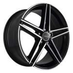 AVUS alumiinivanne AC515 Black Polished, 19x8. 5 5x112 ET45 keskireikä 66