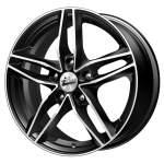 iFree alumiinivanne MSKV Black Polished, 16x6. 5 5x100 ET40 keskireikä 67