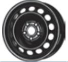 MW 6. 0x16, 5x112, CH 57, ET: 48; teräsvanne AUDI A3; SEAT LEON, LEON SC
