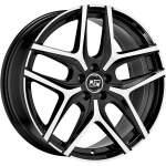 MSW alumiinivanne 40 Black Polished, 17x7. 0 ET keskireikä 65