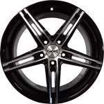 Carwel alumiinivanne Alpha Black Polish, 17x7. 0 5x112 ET40 keskireikä 66