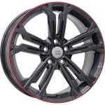 Disks WSP alumiinivanne WSP Naxos Anthrac Lip Red, 18x7. 5 5x112 ET49